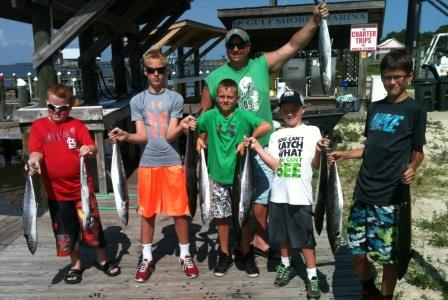 kids with fish fishing charters gulf shores